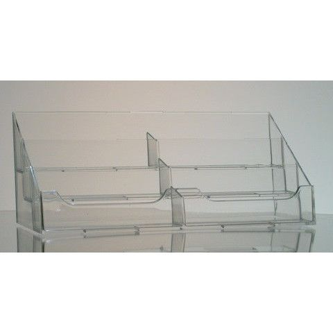 6-Pocket Clear Acrylic Countertop Business Card Holder