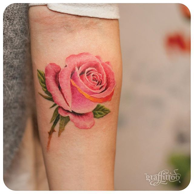 Gorgeous rose tattoo.