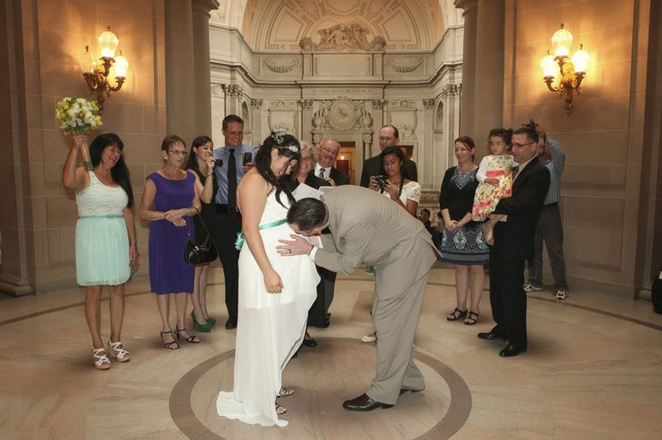 This was the sweetest thing I've ever seen at any wedding I have ever photographed. #sanfranciscocityhallphotographer #maternitywedding #sfcityhallwedding www.rachellevinephoto.com