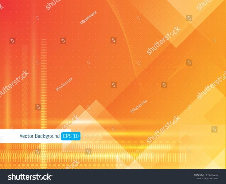 Abstract futuristic technology background geometric with dotted lines and wave lines, background for internet banner. Scientific or medical orange bac…