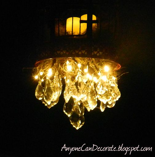 Glamping = outdoor chandelier I CAN DO THAT