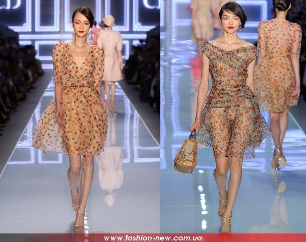 Шифоновые платья из коллекции Dior, фото 1