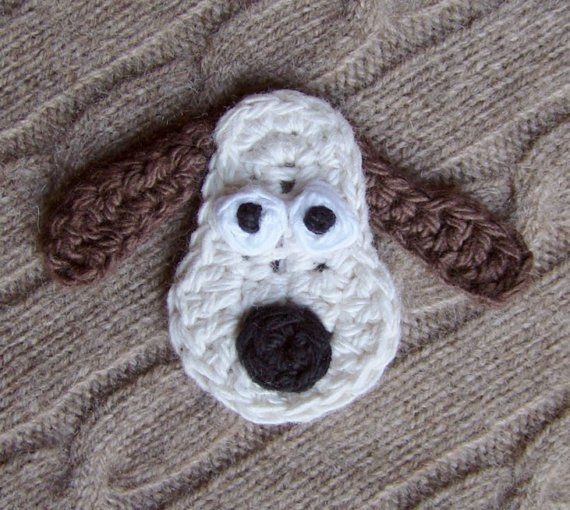 Crochet Applique Dog