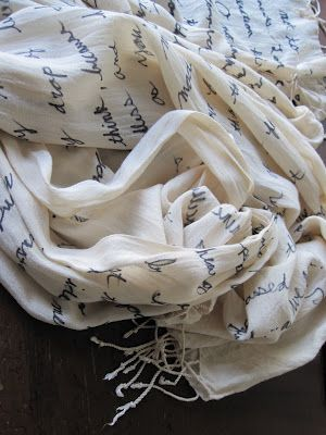 DIY Quote Scarf, rather than buying one on etsy! I saw walmart had cheap scarves... I think a Bronte and an Austen scarf are in order!