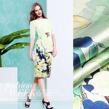 118*110 см 19 мм 93% шелк и 7% спандекс 19 мм весна цветочные шелковой атласной ткани для платья рубашка одежда cheongsam D103(China (Mainland))