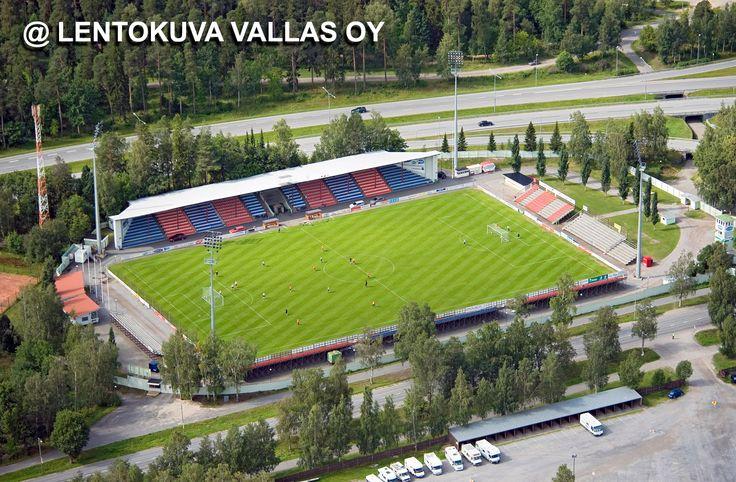 Hietalahden jalkapallostadion Ilmakuva: Lentokuva Vallas Oy