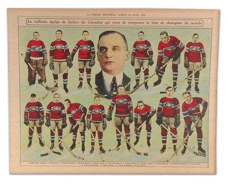 1929 - 1930 Montreal Canadiens