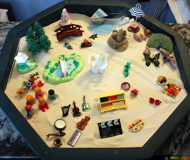 EXPRESSIVE ARTS what feeds your soul Sandtray - - repinned by Private Practice from the Inside Out http://www.AllThingsPrivatePractice.com