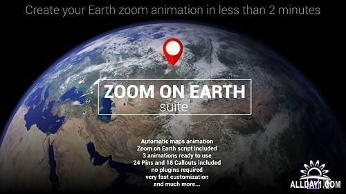 Zoom On Earth Suite - After Effects - Project & Scripts (Videohive)