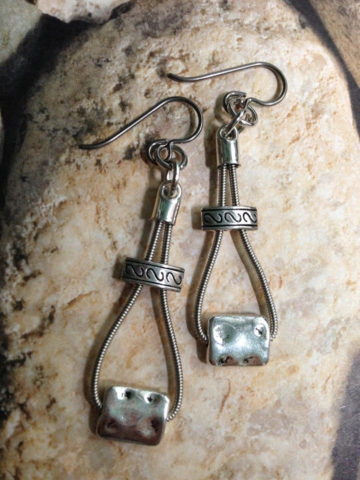 """""""Music To My Ears""""  guitar string jewelry.....                                                                                                                                                     More"""