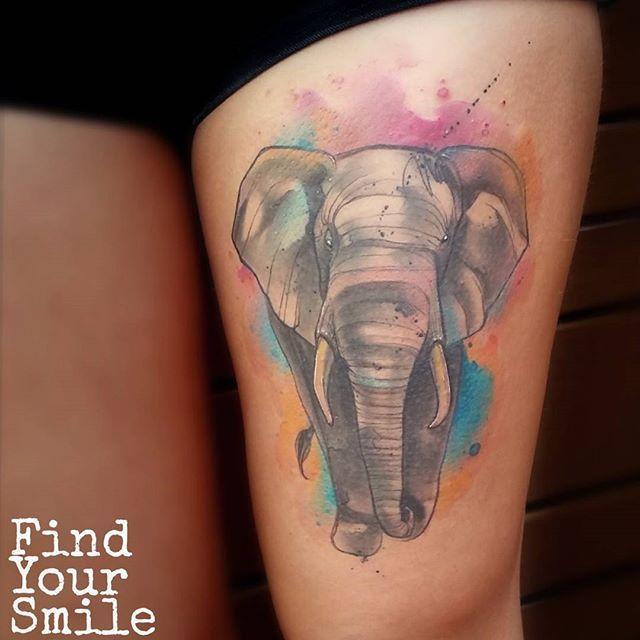 Elephant Tattoo by Russell Van Schaick