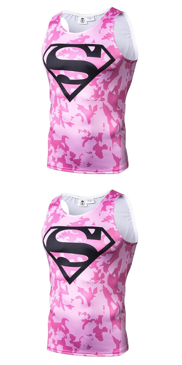 2018 Summer New Multiple Hero Pink Camo Superman 3D Personalized Printing Creative Sleeveless Vest Male Tide Tank Tops