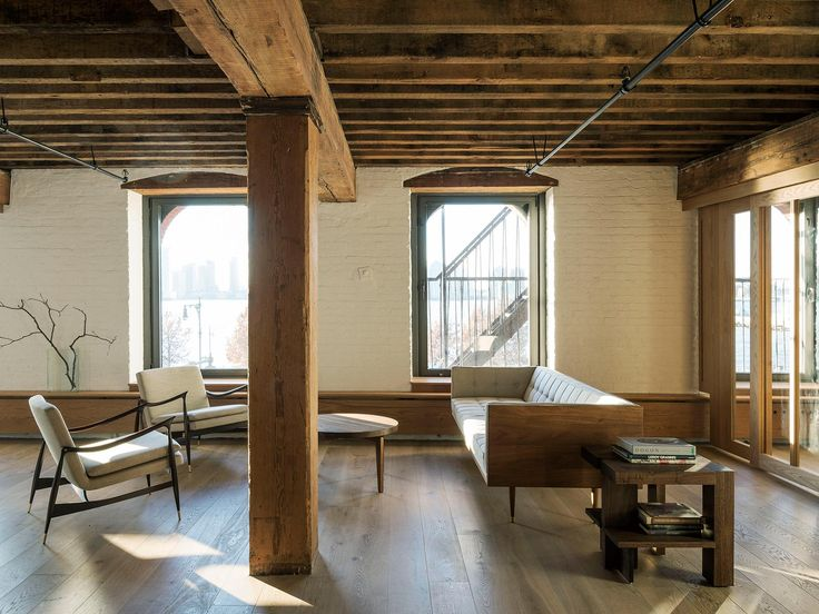 bench in the background - Tribeca Loft   Brooklyn NY Design