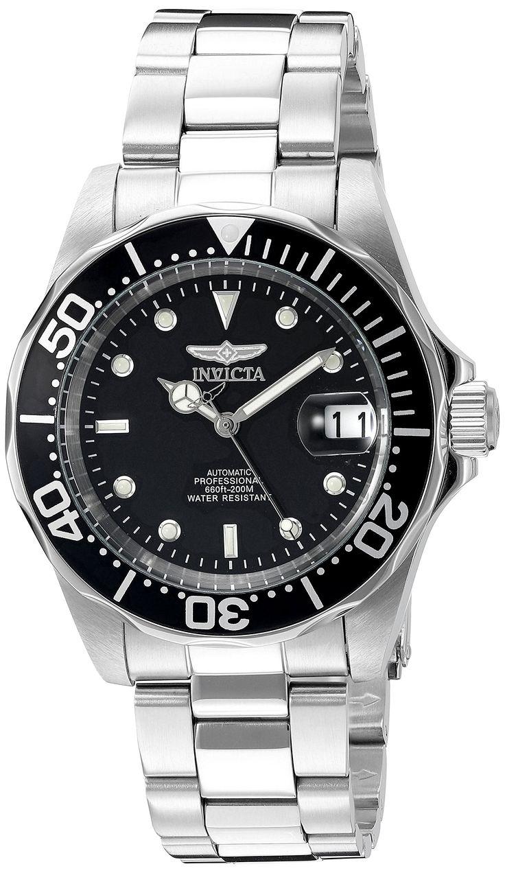Invicta Pro Diver Automatic 8926 - Reloj de caballero automático, correa de acero inoxidable color plata