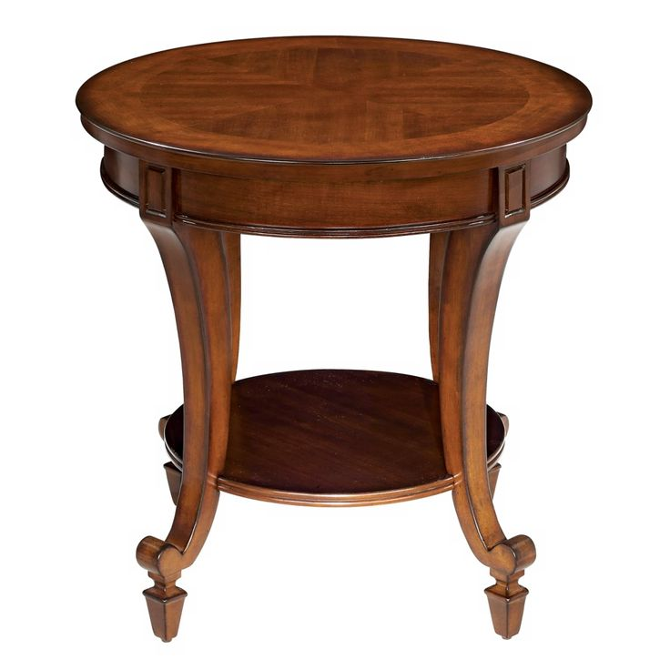 demilune collection round end table style g5656
