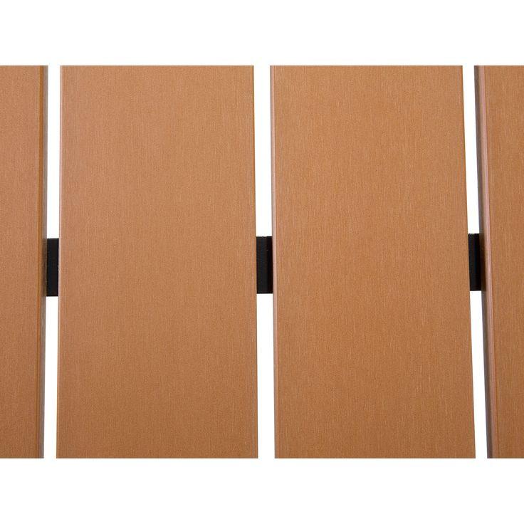 Beliani Resin Wood Patio Dining Set Como, Brown, Size 7-Piece Sets, Patio Furniture
