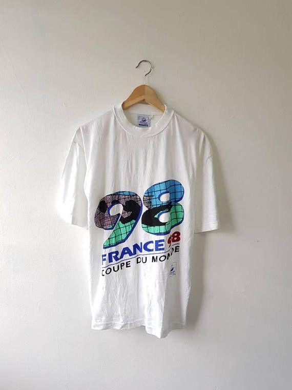 Vintage 90s 98 FRANCE Coupe Du Monde European Soccer Cup