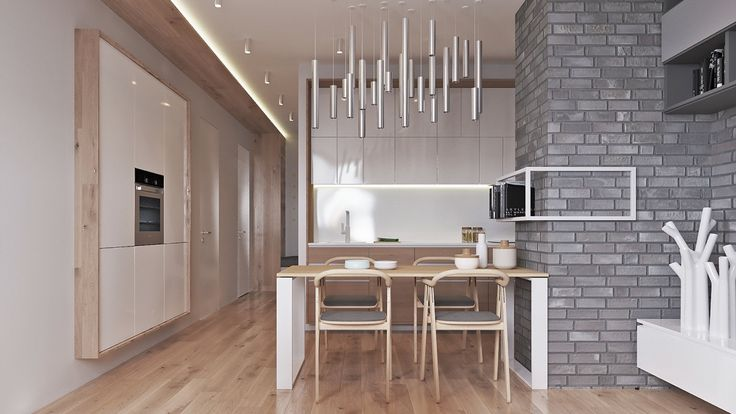 Contemporary home design exposed brick pads and muted pastel tone color bring out luxurious feel exposed brick bricks and contemporary