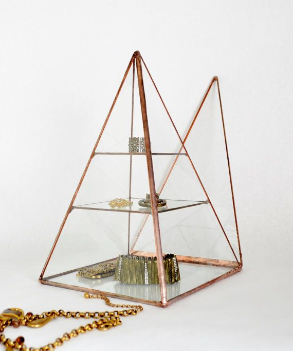 Glass Box Pyramid Display Box Stained Glass by jacquiesummer