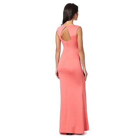 Mmmmm Lipsy Pink cut out scuba maxi dress- at Debenhams Mobile