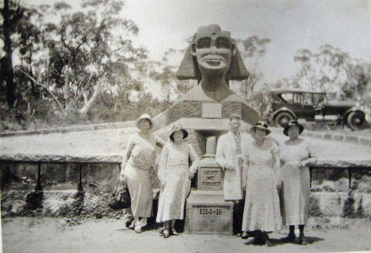 The Spinx War Memorial, near Bobbin Head, Hawkesbury region, 1920s