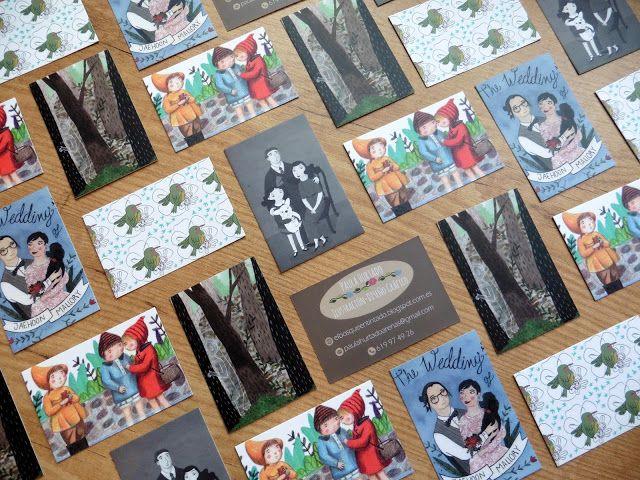 El bosque entintado Mis tarjetas de presentación con ilustraciones propias