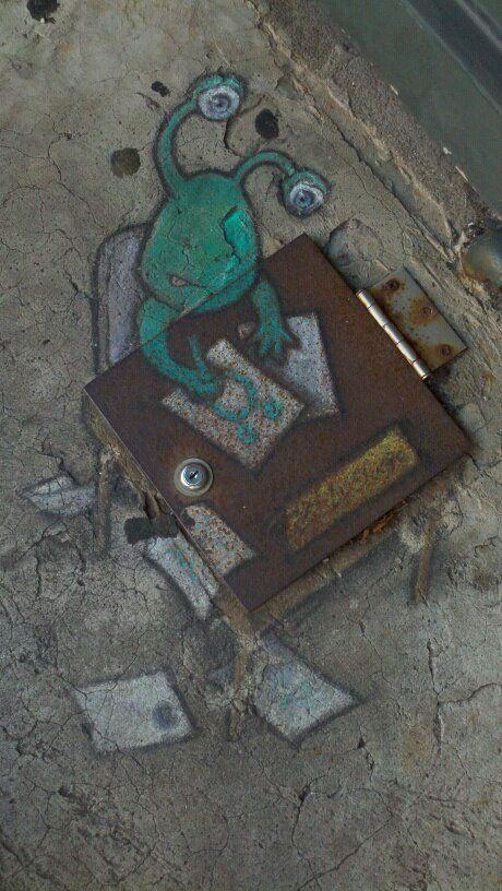 Street art by David Zinn http://www.zinnart.com/index.php
