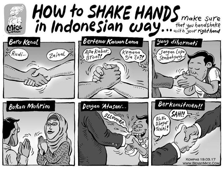 MICE CARTOON - SHAKE HANDS Karya: Muhammad Misrad Sumber: Kompas Minggu - 19 Maret 2017 (KLIK gambar untuk memperbesar)