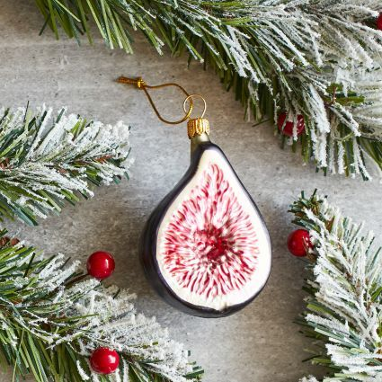 """Fig Glass Ornament"" from Sur La Table -- Handcrafted in Poland."