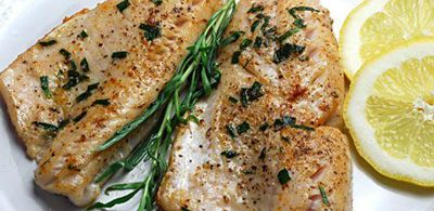 Grilled Walleye with Rosemary and Lemon
