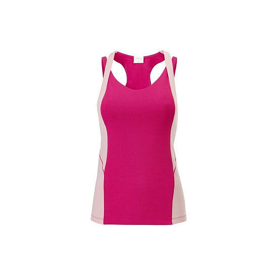 Fire and Shine Iris Sporty Tank, $119.95: Made from organic cotton, and it's pink! Stockists: Fire and Shine