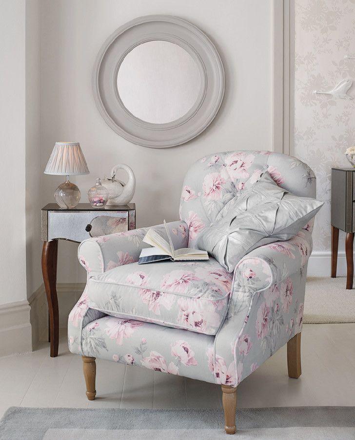 Laura Ashley Beatrice Cyclamen Floral Linen Mix Curtain