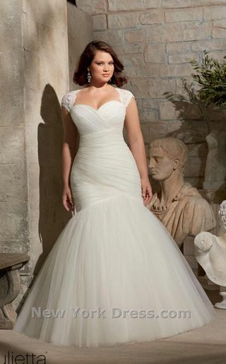 NewYorkDress Blog // The Curvy Fashionista Features Plus Size Wedding Dresses // Click through for more! // Dress: Mori Lee 3176