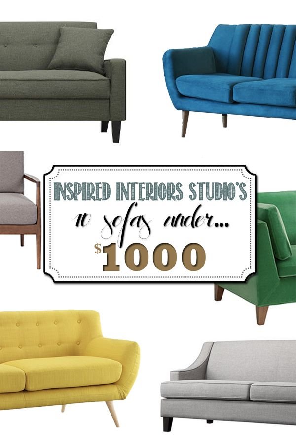 10 Favorite Sofa's Under $1000, I'm crazy for all these trendy modern couches! And for under $1000, such a great bargain!! Delineateyourdwelling.com