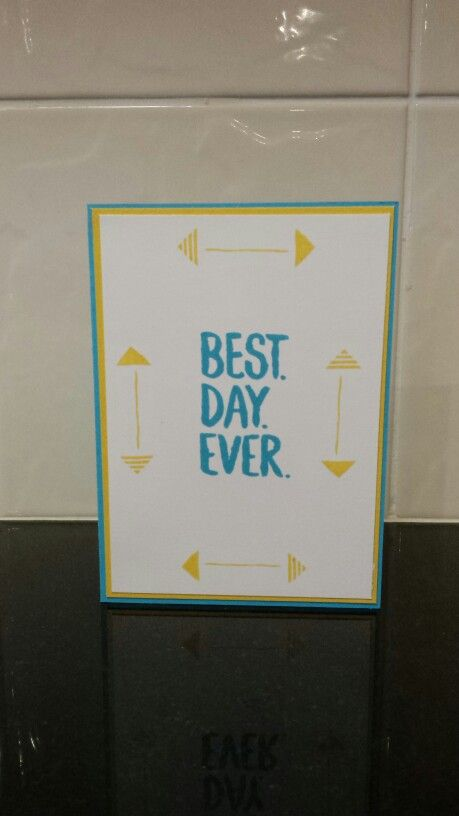 Stampin' Up's Best Day Ever. Makes a great retirement card!