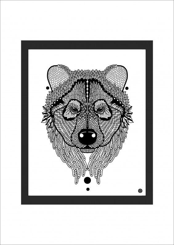 Grafika Zwierzu z Polski - Niedźwiedź