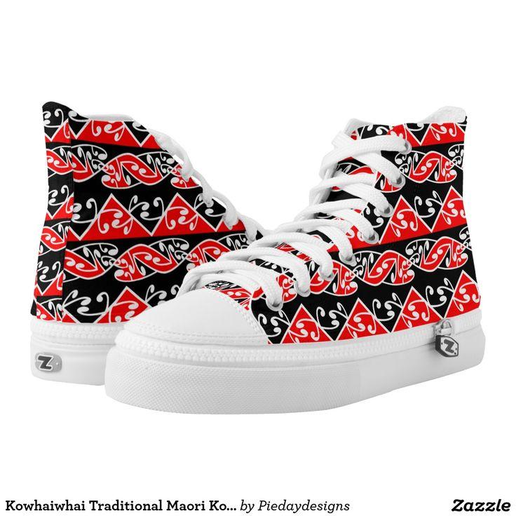 Kowhaiwhai Traditional Maori Koru Pattern. Traditi Printed Shoes