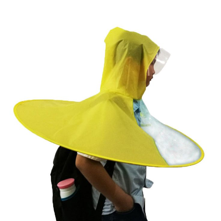 1 X Children raincoats. 1Pcs 3 Size Portable Folding Rain Coat Umbrella Hat Children Outdoor Creative raincoat environmental protection students wearing umbrella hat poncho. Raincoat thickness: conventional.   eBay!
