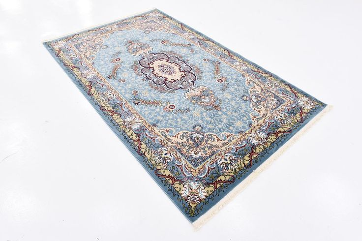Blue 5' x 8' Tabriz Design Rug | Area Rugs | iRugs UK
