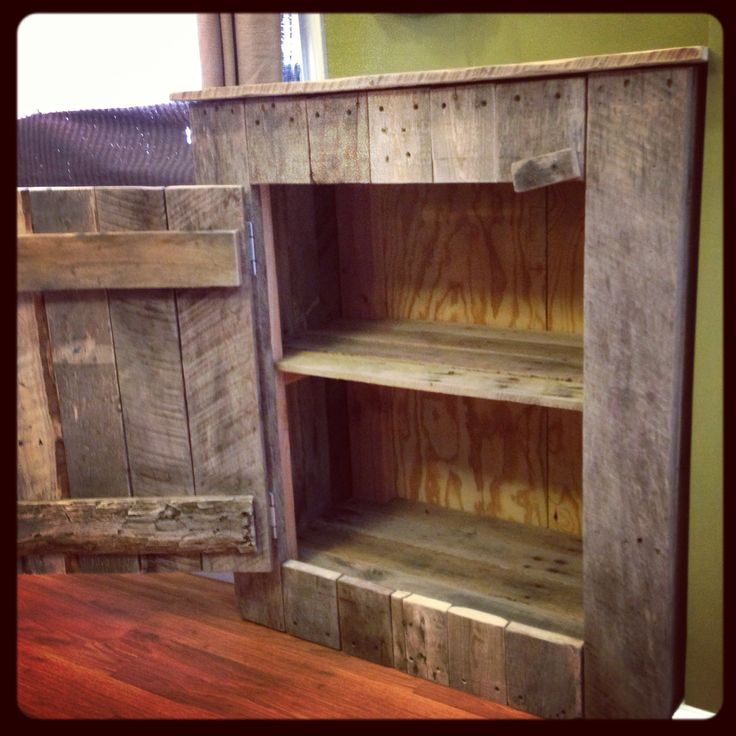 Diy Pallet Board Cabinet This Is The One Kenny Just Made To House All My Herbs Teas And