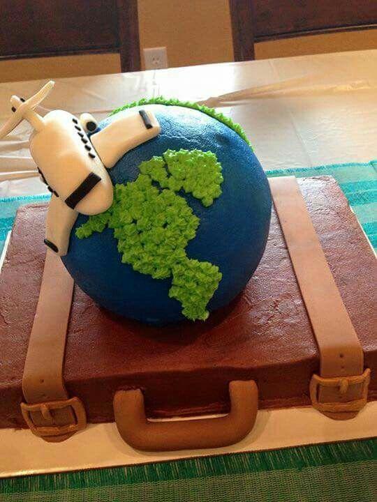 World Traveler Cake Airplanes And Aviation Cake