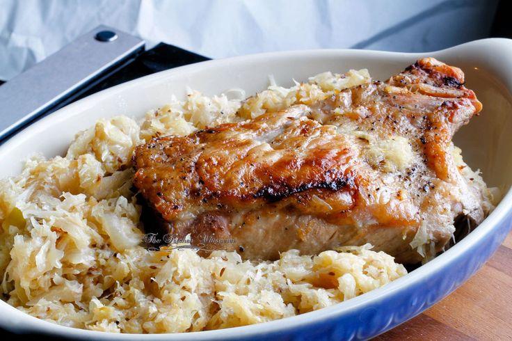 Best ever pork roast with sauerkraut!