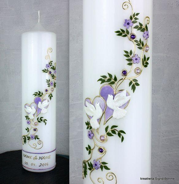 Hochzeitskerze DW 394 von Kerzenkunst - Kreatiwita auf DaWanda.com