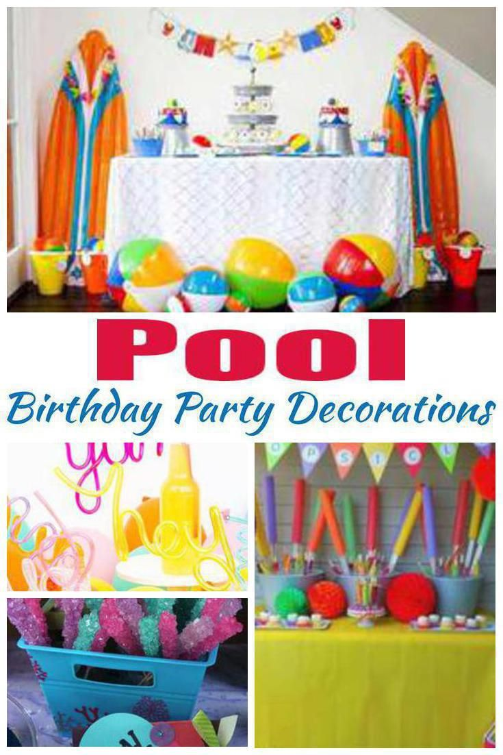 Pool Birthday Party Decorations Party Decorations Kids Boys Pool Birthday Party Kids Party Decorations