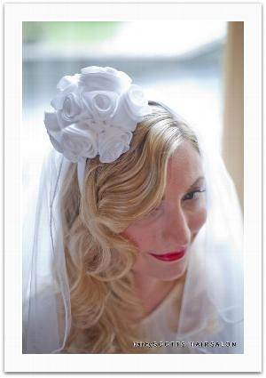 Bridal Hair by Charlotte at Scotts Hairsalon. Make up by Ruth Hawkins from Harmony Beauty. Veil/Headdress by Karen Robb at Dornellie Veils. Photo by Chris Cowley from Isle of Wight Wedding Photography.