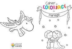 Cahier de coloriage à télécharger pour un mariage ! #animation #mariage #enfant