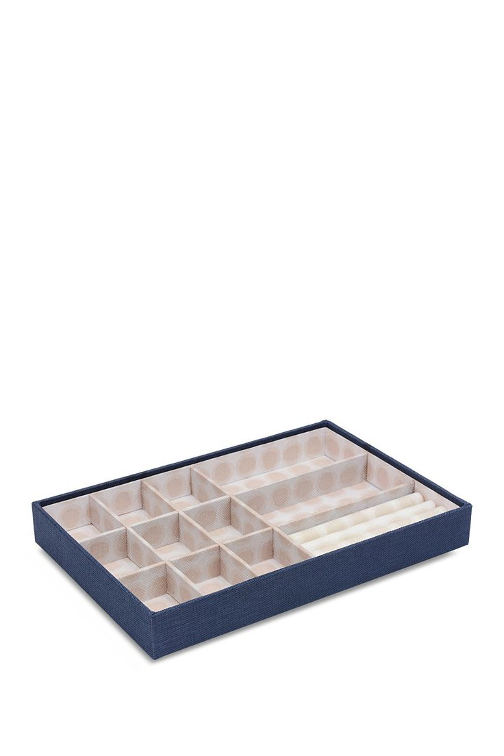 12 Compartment Navy Dots Fabric Organizer on @HauteLook
