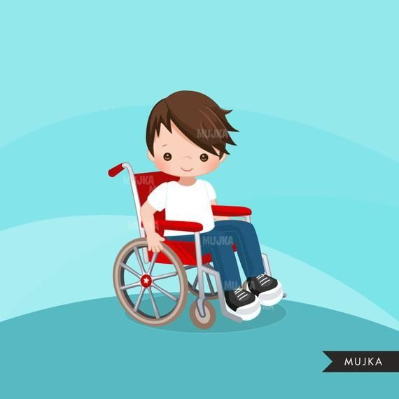 Special Needs Wheelchair Clipart Disability Kids Etsy In 2020 Clip Art Disabled Children Character Design