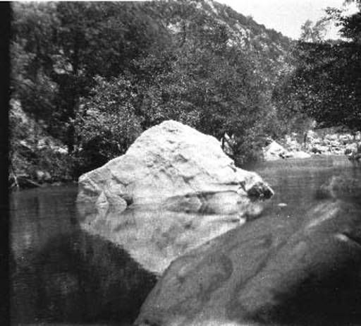 Los Angeles River, 1926 - Chatsworth, California.  The headwaters are in the Santa Susana Mountains.