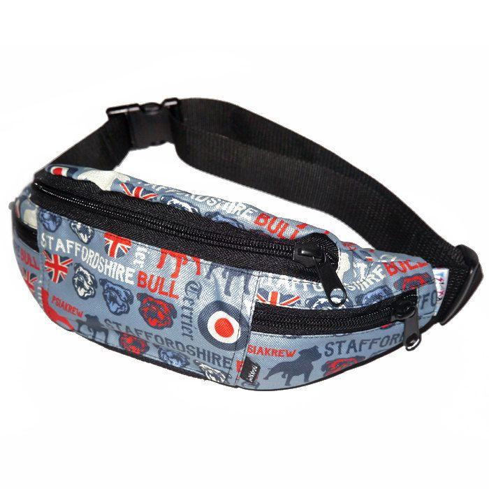 Staffordshire Bull Terrier Fanny bag , fanny pack, dog walking bag , bum bag, hip bag by PSIAKREW on Etsy